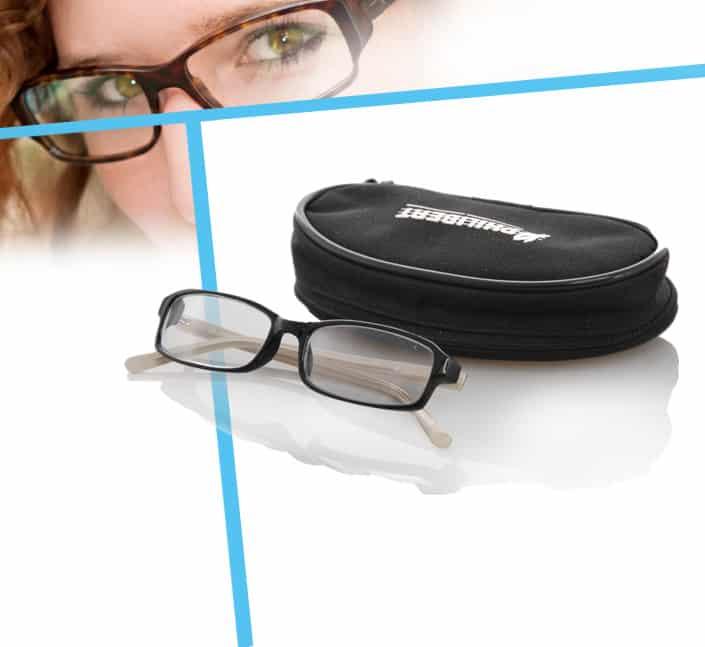 etui lunettes opticien polyester