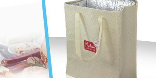 sac cabas isotherme polypropylene-non-tisse-poinconne-zip-portage-poignees impression serigraphie
