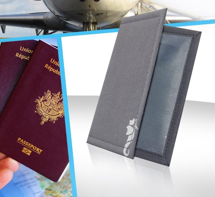 Etui de protection passeport voyage