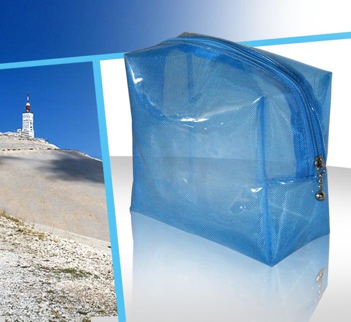 trousse cosmetique transparente PVC givre