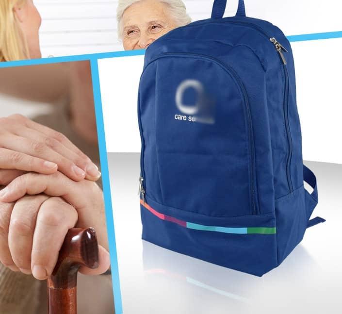 Création de sac a dos congres aide a domicile