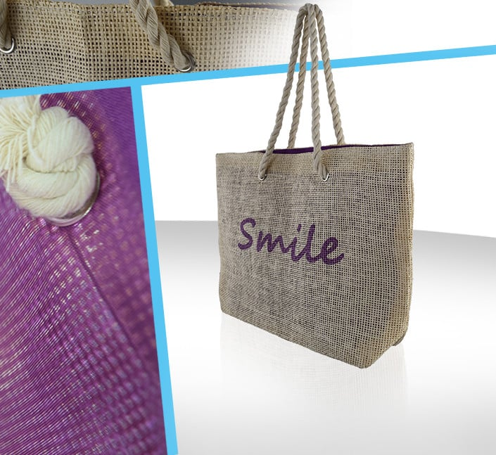 Fabricant de sac en toile de jute anse effet noeud