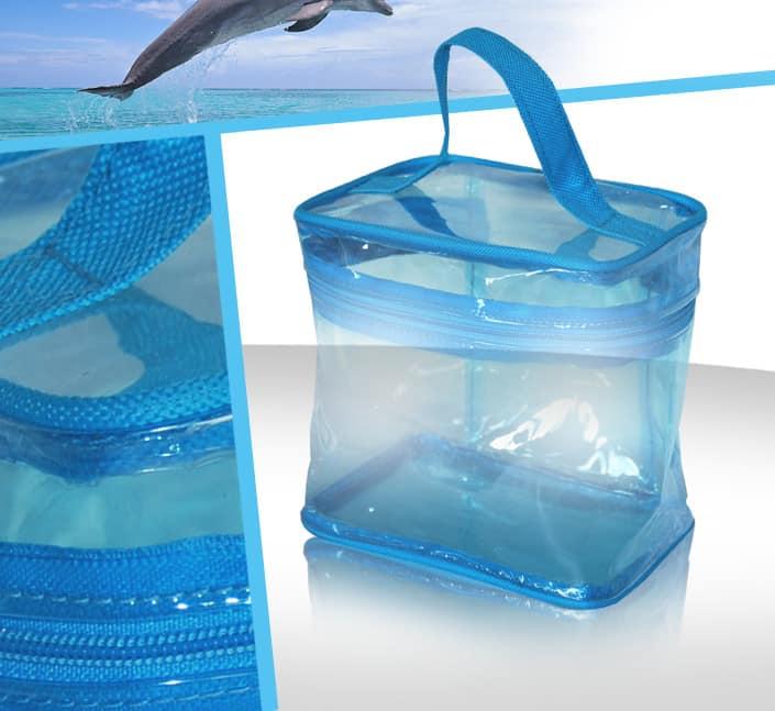 Fabricant de mini vanity pvc givre transparent voyage