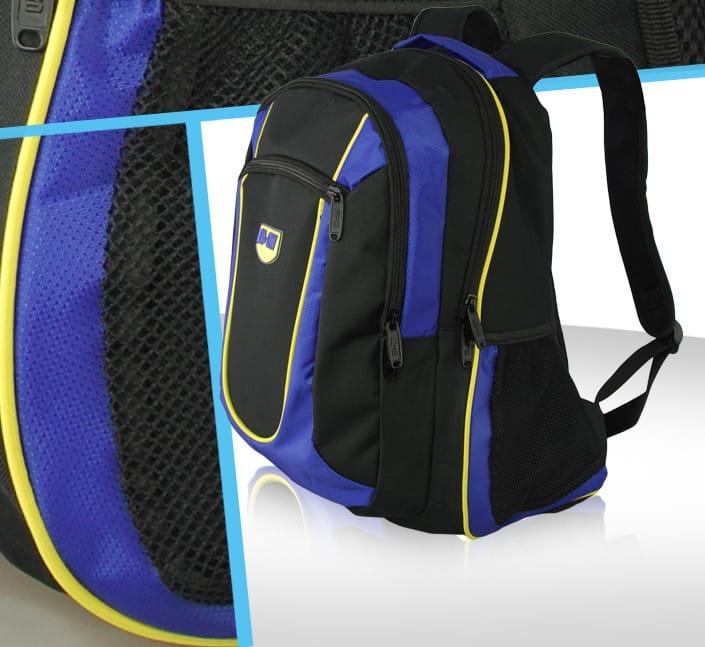 sac a dos sport polyester nylon air mesh reflechissant