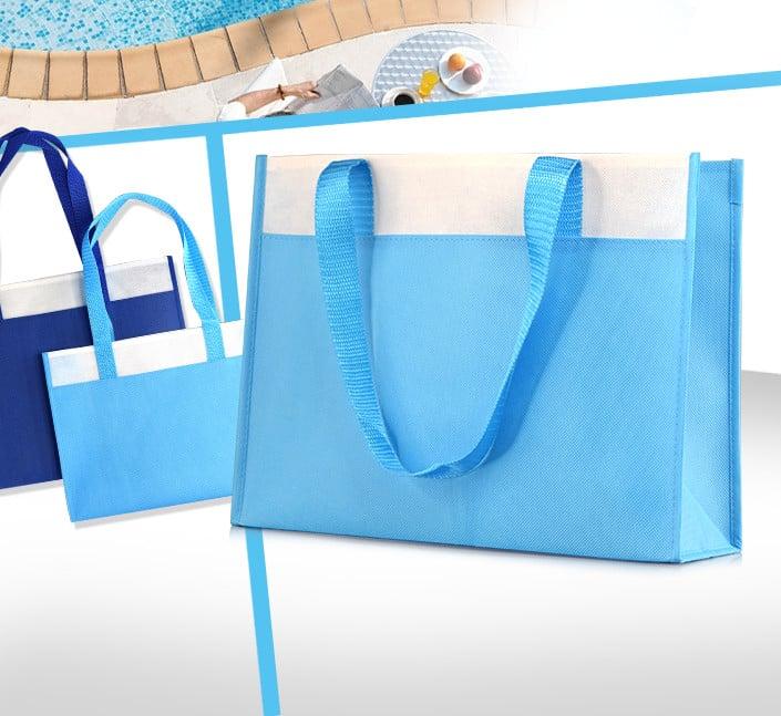 sac thermes polypropylene bleu personnalisable